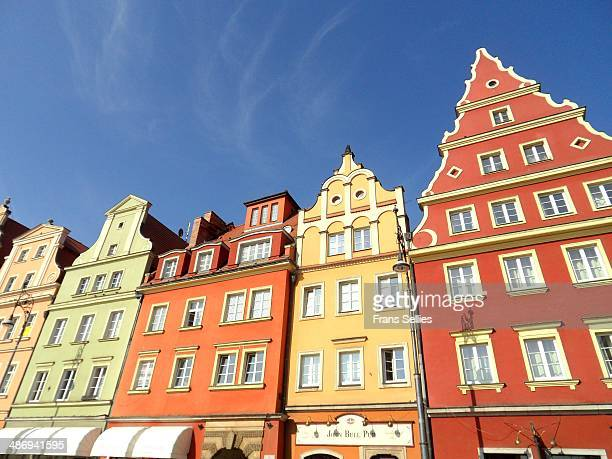 houses on plac solny in wroclaw - frans sellies stockfoto's en -beelden
