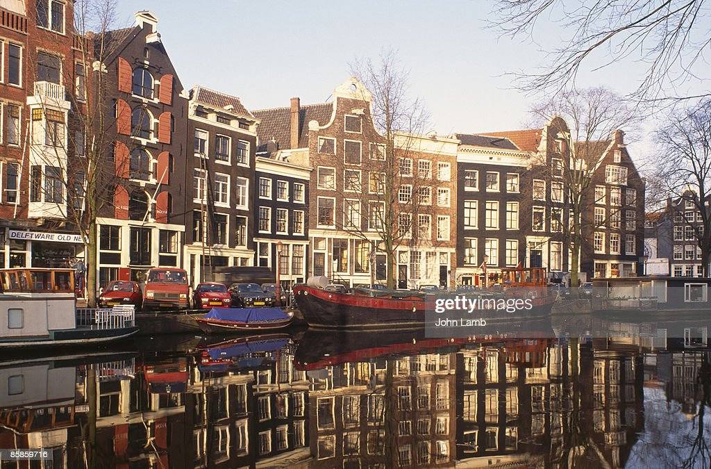 Houses on Prinsengracht : Stock-Foto