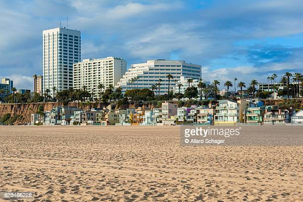 Houses on Santa Monica Beach California