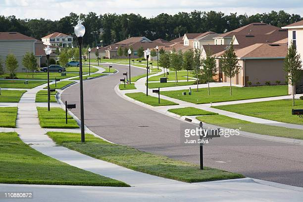 houses on suburban block, apopka, florida - community building stock pictures, royalty-free photos & images