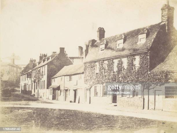 Houses on Village Street 1850s Artist Unknown