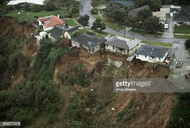 Houses Sliding on Malibu Cliff