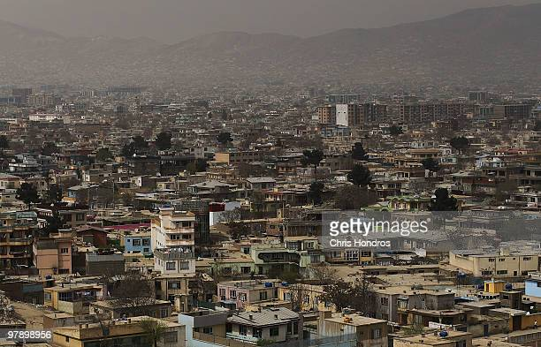 Houses stand for miles in the cityscape of Kabul from the summit of the Bala Hissar, an ancient fortress overlooking Kabul March 20, 2010 in Kabul,...