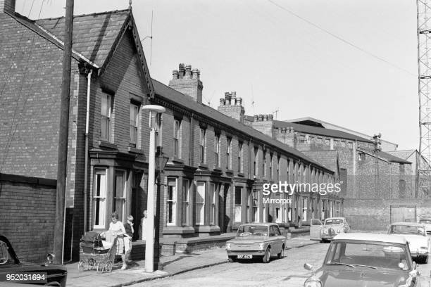 Houses to be demolished in Goodison Avenue in Walton, Liverpool to make room for a new stand at Goodison Park, home ground of Everton Football club....