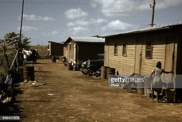 Houses which have been condemned by the Board of Health but are still occupied by Negro migratory workers Belle Glade Fla 1941