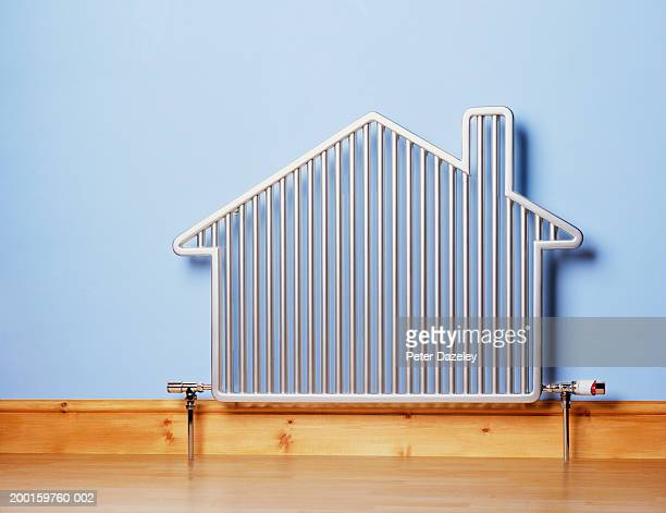 house-shaped radiator - image technique stock pictures, royalty-free photos & images