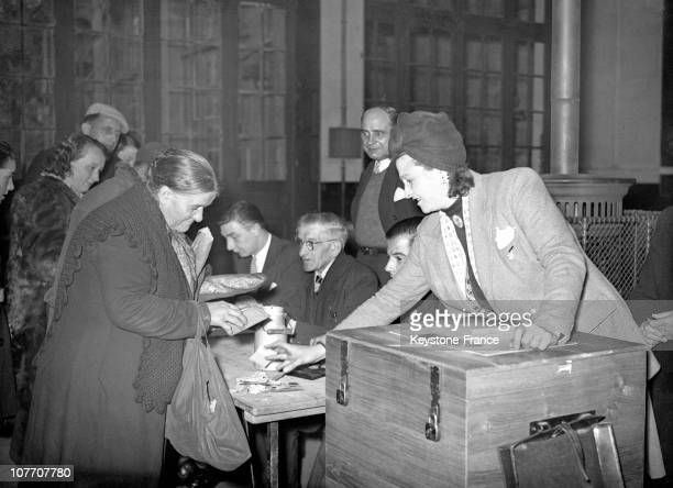 FRANCE CIRCA 1946 Housewife Voting For The First Time