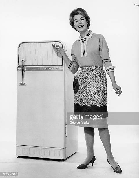 Housewife with new refridgerator