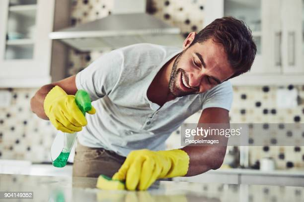 housework is not just for women - clean stock pictures, royalty-free photos & images