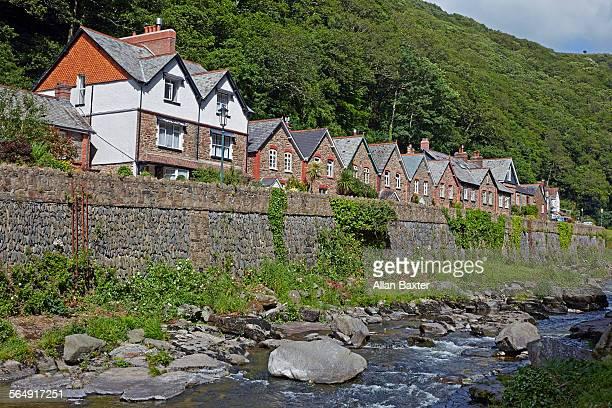 Housing along East Lyn river in Lynmouth