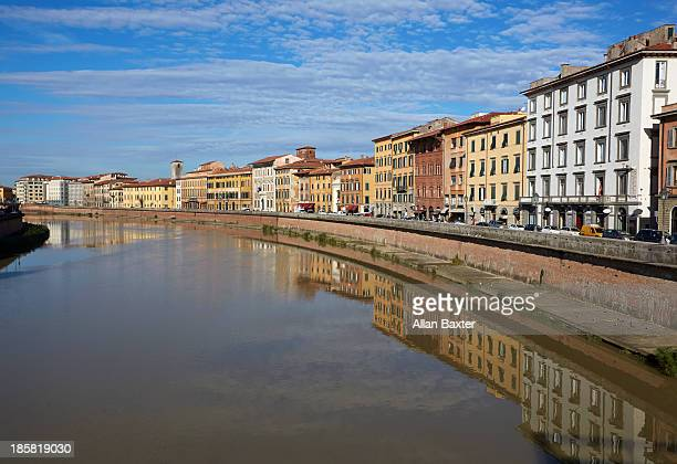 Housing along the Arno River in Pisa