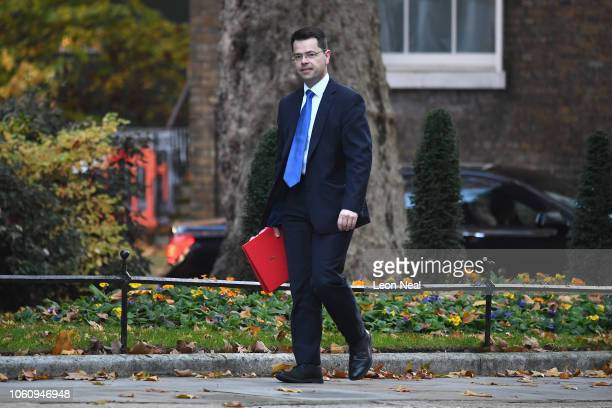 Housing and Communities Secretary James Brokenshire arrives at 10 Downing Street on November 13 2018 in London England