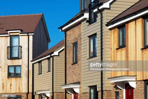 Housing at the Orchard Park development, Cambridge, UK.