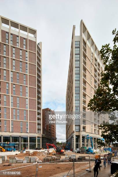 Housing blocks and construction site Canning Town London United Kingdom Architect N/A 2017