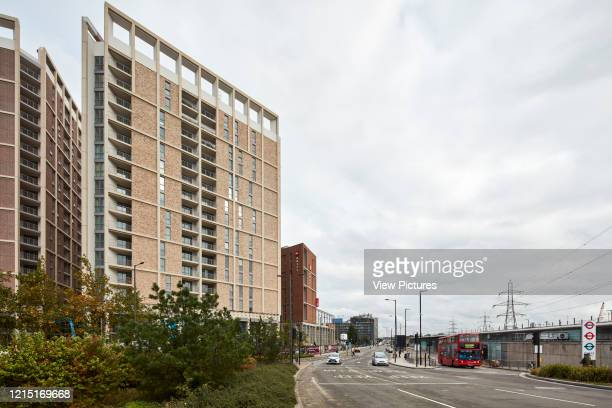 Housing blocks and Underground station Canning Town London United Kingdom Architect N/A 2017
