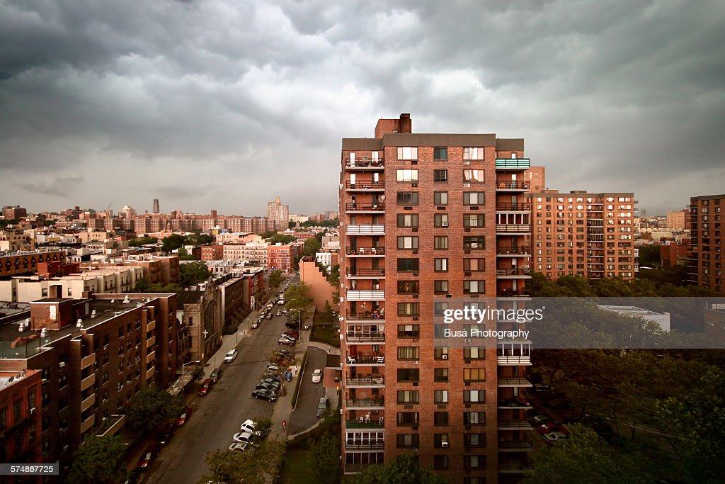 Housing blocks in Central Harlem : ストックフォト
