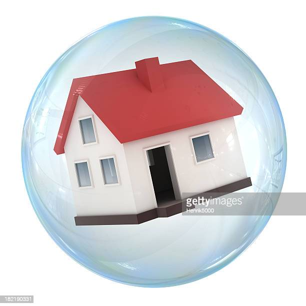 housing bubble - house collapsing stock pictures, royalty-free photos & images