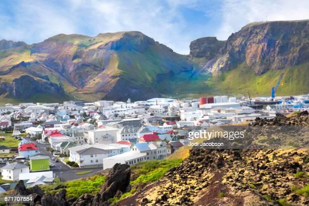 Housing community on  Westman Islands (Vestmannaeyjar), Iceland