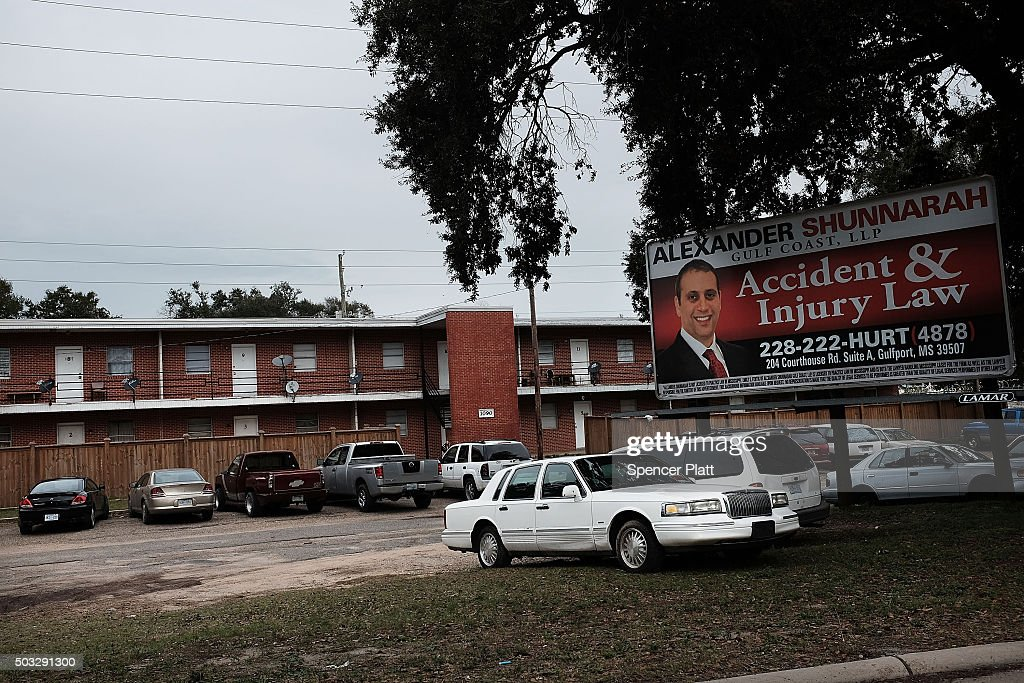 A housing complex offers low income apartments to area residents on January 3, 2016 in Biloxi, Mississippi. According to the US Census Bureau, Mississippi is the nation's poorest state with a median income of $39,680. The city of Biloxi has struggled to make progress after the devastating flooding from Hurricane Katrina in 2005.