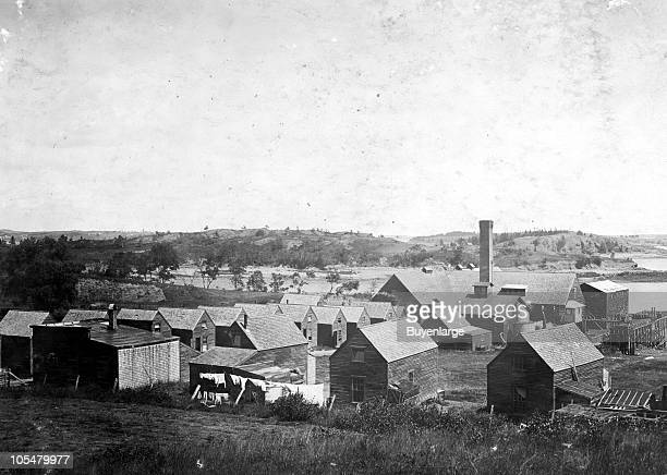 Housing conditions at Clove sardine factory North Lubec ME 1911 They are much congested and run down Children work in the factory