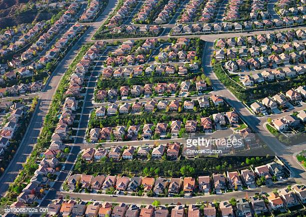 Housing development, aerial view
