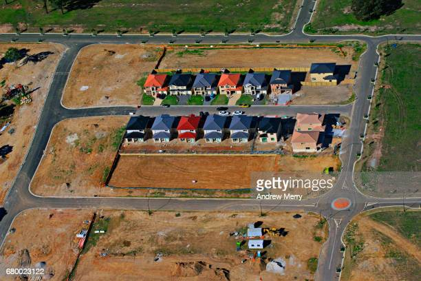 Housing development, Kellyville Ridge, North-West Sydney, Aerial Photography