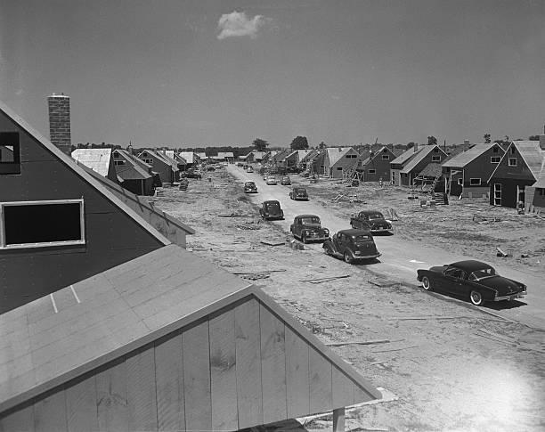 Housing development, Levittown, Pennsylvania.