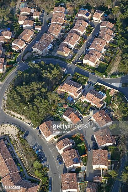 Housing development, Peypin, aerial view