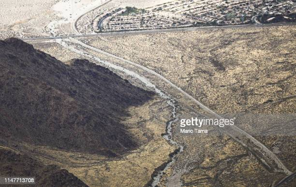 A housing development stands in the desert in the Coachella Valley on May 6 2019 in Palm Springs California California's Fourth Climate Change...
