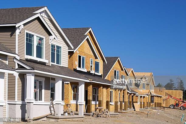 housing development under construction - residential district stock pictures, royalty-free photos & images