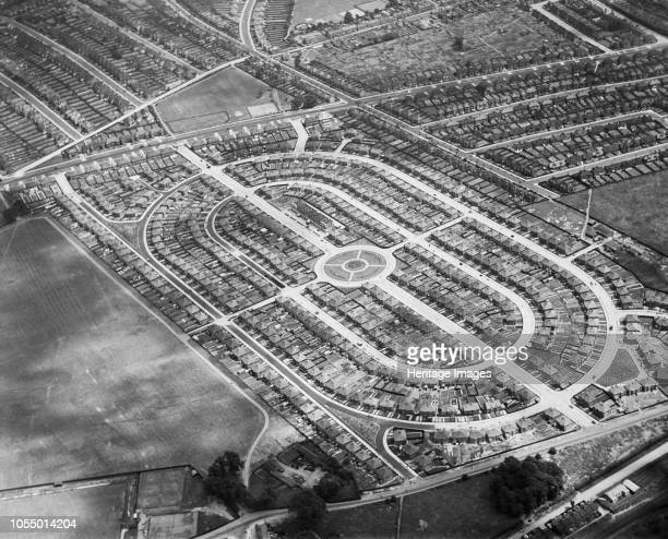 Housing estate built by John Laing Co Cricklewood London 1930 Attractive new housing estates were a source of pride for house builders Artist...
