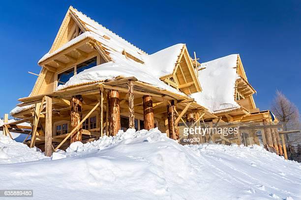Housing estate timber houses, Koscielisko, Poland