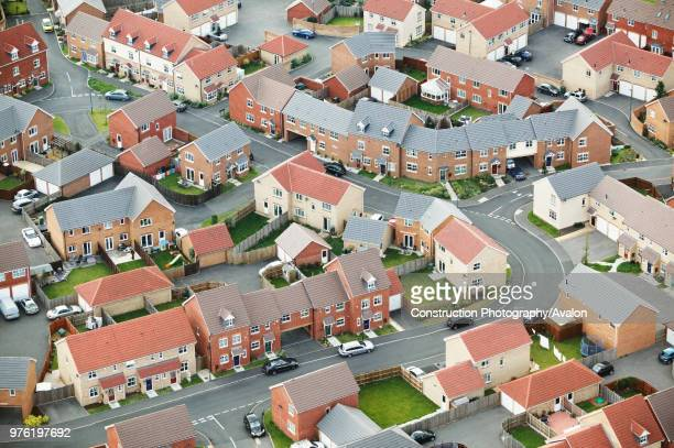 Housing estate UK aerial view