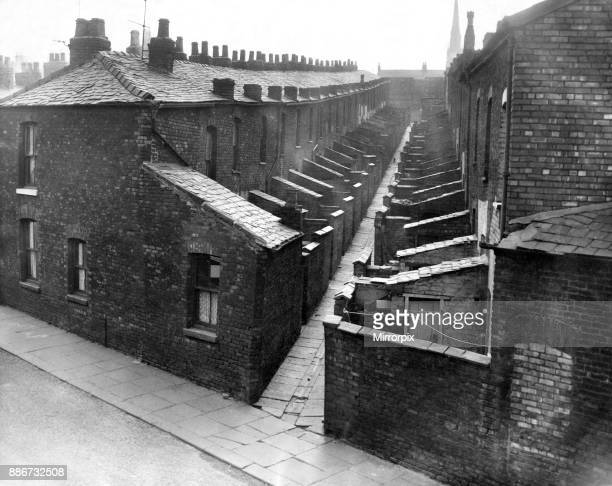 Housing in Hulme, Manchester. Circa 1961.