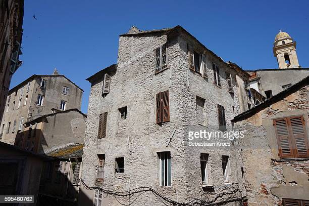 Housing in old Bastia, Corsica, France
