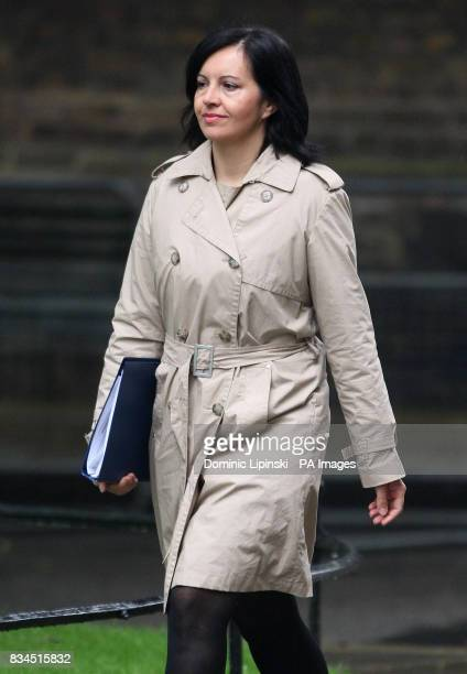 Housing Minister Caroline Flint arrives for a cabinet meeting at Downing Street London