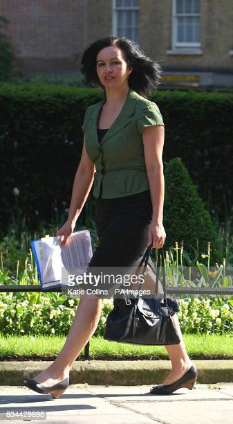 Housing Minister Caroline Flint leaves after a Cabinet Meeting at 10 Downing Street in London
