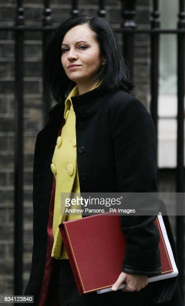 Housing Minister Caroline Flint leaves No 10 Downing St after the weekly cabinet meeting