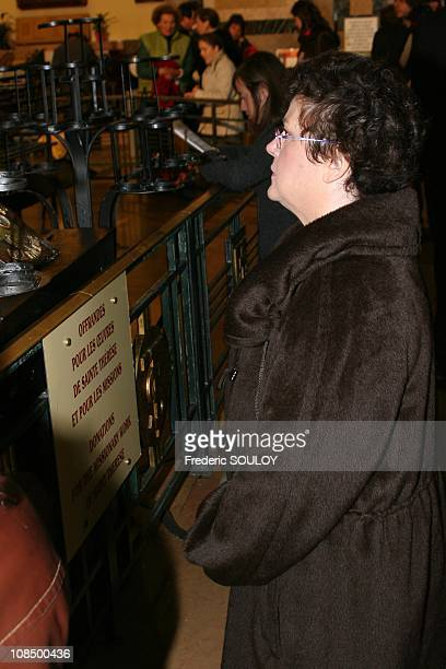 Housing Minister Christine Boutin in the Lisieux Basilica France on October 19 2008