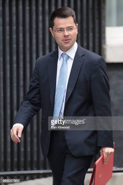 Housing Secretary James Brokenshire arrives for a cabinet meeting at 10 Downing Street on July 10 2018 in London England Ministers are meeting for a...