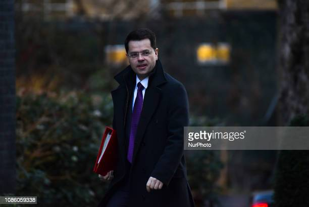 Housing Secretary James Brokenshire arrives for the weekly cabinet meeting at Downing Street London on January 22 2019 The Prime Minister outlined...