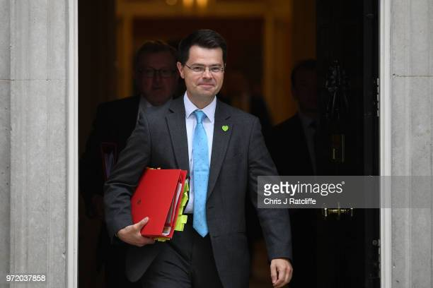 Housing Secretary James Brokenshire leaves following a cabinet meeting at 10 Downing Street on June 12 2018 in London England