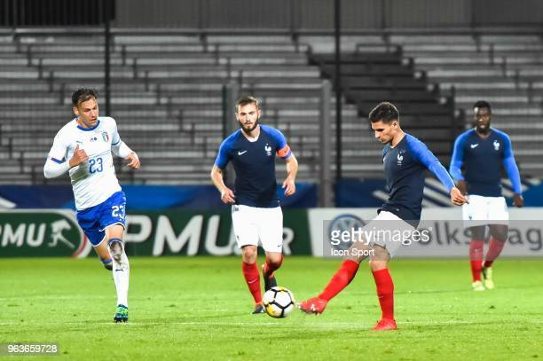 Houssem Aouar of France during the U21 International Friendly match between France and Italy on May 29 2018 in Besancon France