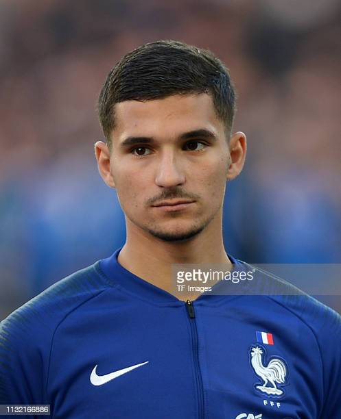 Houssem Aouar of France looks on prior to the International Friendly match between Germany and France at Stadion Essen on March 21 2019 in Essen...