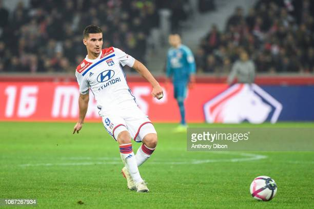 Houssem Aouar of Lyon during the French Ligue 1 match between Lille OSC and Olympique Lyonnais on December 1 2018 in Lille France