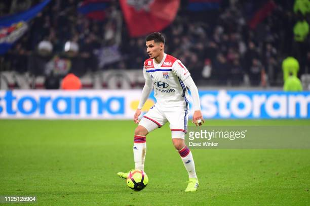 Houssem Aouar of Lyon during the Ligue 1 match between Lyon and Guingamp on February 15 2019 in Lyon France