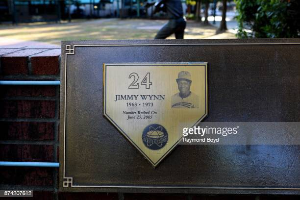 Houston Astros awards and mentions are on display in The Plaza at Minute Maid Park home of the Houston Astros baseball team in Houston Texas on...