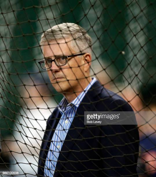 Houston Astros General Manager and President of Baseball Operations Jeff Luhnow at Minute Maid Park on June 25 2018 in Houston Texas