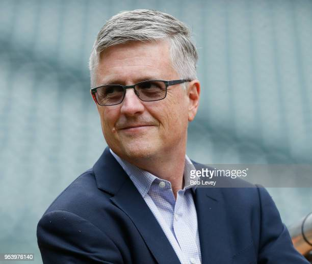 Houston Astros general manager Jeff Luhnow at Minute Maid Park on April 30 2018 in Houston Texas