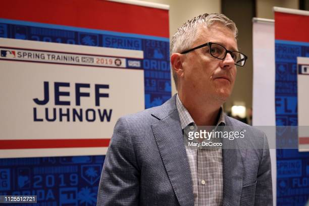 Houston Astros General Manager Jeff Luhnow speaks to the media during the Grapefruit League media availability on Sunday February 17 2019 at the...